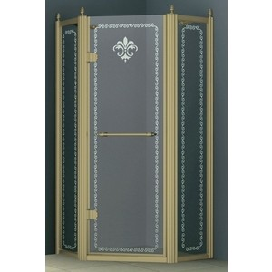 Душевой уголок Cezares Retro A-P-1 90х90 Punto, бронза левый (Retro-A-P-1-90-CP-Br-L)