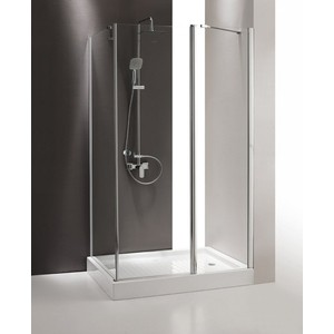 Душевой уголок Cezares TRIUMPH-D-AH-1-120/80-C-Cr-R правый, профиль хром, стекло прозрачное душевой уголок royal bath 120 80 200 стекло прозрачное правый rb8120bp t r