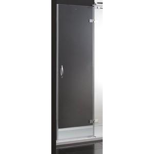 Дверное полотно Cezares BERGAMO-60/60-C-Cr-L-IV левая профиль хром, стекло прозрачное
