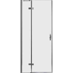 Дверное полотно Cezares BERGAMO-W-60/30-C-Cr-L левая профиль хром, стекло прозрачное