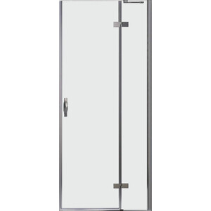 Дверное полотно Cezares BERGAMO-W-60/30-C-Cr-R правая профиль хром, стекло прозрачное