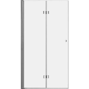 Дверное полотно Cezares ELENA-W-40/40-C-Cr профиль хром, стекло прозрачное