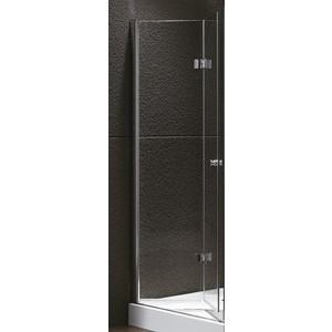Дверное полотно Cezares ELENA-W-50/50-P-Cr-R правая профиль хром, стекло рифленое Punto