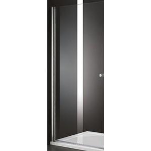 Дверное полотно Cezares ELENA-W-60-P-Cr-L левая профиль хром, стекло рифленое Punto