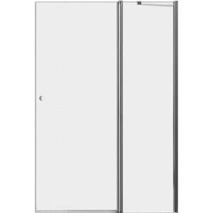 Дверное полотно Cezares ELENA-W-60/30-P-Cr-R правая профиль хром, стекло рифленое Punto