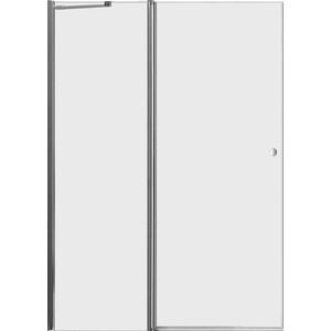 Дверное полотно Cezares ELENA-W-60/40-C-Cr профиль хром, стекло прозрачное