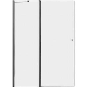 Дверное полотно Cezares ELENA-W-60/40-P-Cr-L левая профиль хром, стекло рифленое Punto