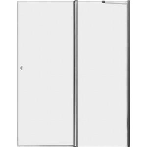 Дверное полотно Cezares ELENA-W-60/60-P-Cr-R правая профиль хром, стекло рифленое Punto