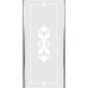 Универсальная боковая панель Cezares GIUBILEO-FIX-90-SCORREVOLE-CP-Cr профиль хром, стекло прозрачное с матовым рисунком