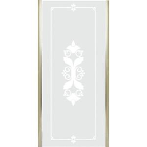 Универсальная боковая панель Cezares GIUBILEO-FIX-90-SCORREVOLE-CP-G профиль золото, стекло прозрачное с матовым рисунком