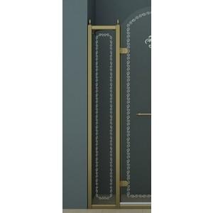 Универсальная боковая панель Cezares RETRO-A-30-FIX-CP-Br профиль бронза, стекло прозрачное с матовым рисунком