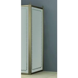 Универсальная боковая панель Cezares RETRO-A-90-FIX-CP-G профиль золото, стекло прозрачное с матовым рисунком