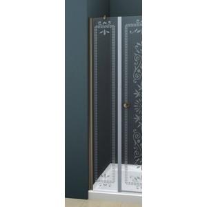 Универсальная боковая панель Cezares ROYAL PALACE-A-100-FIX-CP-Br профиль бронза, стекло прозрачное с матовым рисунком