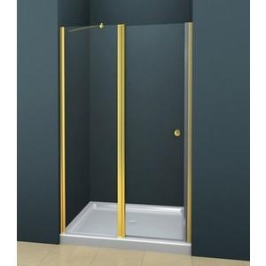 Дверное полотно Cezares ROYAL PALACE-A-60/60-C-G профиль золото, стекло прозрачное