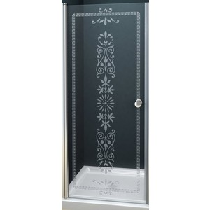 Дверное полотно Cezares ROYAL PALACE-A-90-C-Br профиль бронза, стекло прозрачное