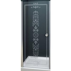 Дверное полотно Cezares ROYAL PALACE-A-90-CP-G профиль золото, стекло прозрачное с матовым рисунком