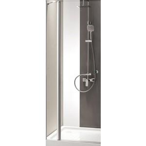 Дверное полотно Cezares TRIUMPH-D-60/40-P-Cr профиль хром, стекло рифленое Punto