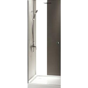 Дверное полотно Cezares TRIUMPH-D-80-P-Cr профиль хром, стекло рифленое Punto