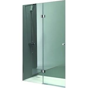 Дверное полотно Cezares VERONA-W-60/30-P-Cr-L левая профиль хром, стекло рифленое Punto