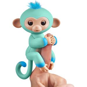 FINGERLINGS Интерактивная обезьянка ЭДДИ (голубая), 12 см (3724)