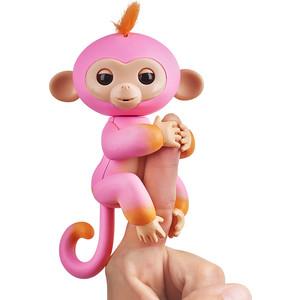 FINGERLINGS Интерактивная обезьянка САММЕР (розовая с оранжевым), 12 см (3725)