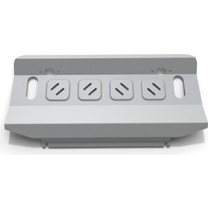 Защита радиатора Rival для Mitsubishi Pajero IV (2006-2011 / 2011-н.в.)., алюминий 4 мм, 333.4012.1