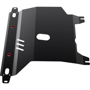Защита картера и КПП АвтоБРОНЯ для Chevrolet Lanos АКПП (2005-2009) / ZAZ Chance АКПП (2005-н.в.), сталь 2 мм, 111.06501.1 фото