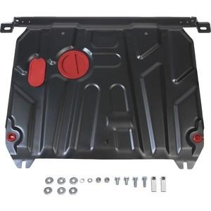 Защита картера и КПП АвтоБРОНЯ для Hyundai Solaris (2011-2016) / Kia Rio (2011-2017), сталь 2 мм, 111.02343.1
