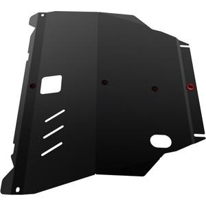 Защита картера и КПП АвтоБРОНЯ для Nissan X-Trail (2001-2007), сталь 2 мм, 111.04138.1