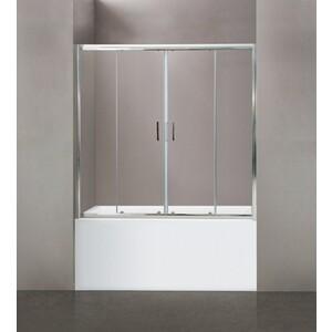 Шторка на ванну BelBagno Uno VF-2-150 прозрачная, хром (UNO-VF-2-150/145-C-Cr)