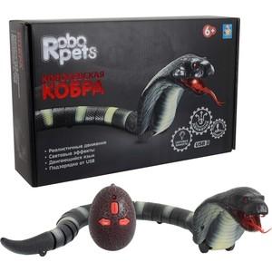 Интерактивная игрушка 1Toy Королевская кобра (черная) на ИК управлении 45 см (Т11394)