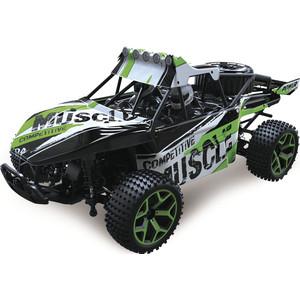 Машина РУ 1Toy 2,4GHz, 4WD, скорость до 20км/ч, свет, курковый пульт, с АКБ 700mAh Ni-CH, зеленый (Т10966)
