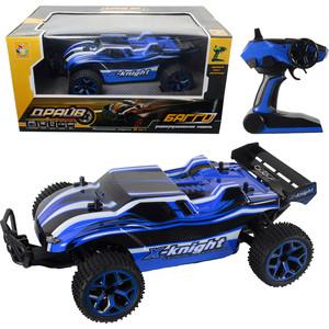 Машина РУ 1Toy 2,4GHz, 4WD, скорость до 20км/ч, свет, курковый пульт, с АКБ 700mAh Ni-CH, синий (Т10962)