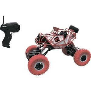 Машина РУ 1Toy Раллийная бигвил, 2,4GHz, 4WD, масштаб 1:43, скорость до 14км/ч, курковый пульт, амортизаторы, с АКБ, красно-белый (Т10946)