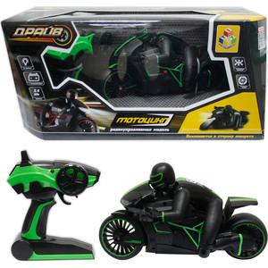 Мотоцикл РУ 1Toy С гонщиком, зеленый (Т10954)