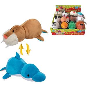 Мягкая игрушка 1Toy Вывернушка 20 см 2в1 Морж-Дельфин (Т10924) игрушка 1toy вывернушка 2в1 мини 14 видов 8cm т12036
