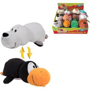 Мягкая игрушка 1Toy Вывернушка 20 см 2в1 Пингвин-Морской котик (Т10922)