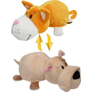 цена на Мягкая игрушка 1Toy Вывернушка 35 см 2в1 Оранжевый кот-Бульдог (Т10926)