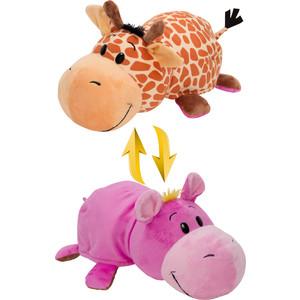 Мягкая игрушка 1Toy Вывернушка 40 см 2в1 Жираф-Бегемот (Т10877) игрушка 1toy вывернушка 2в1 мини 14 видов 8cm т12036