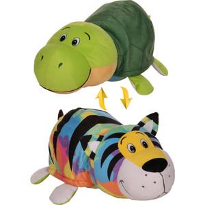 Мягкая игрушка 1Toy Вывернушка 40 см 2в1 Радужный тигр-Черепаха (Т12333)
