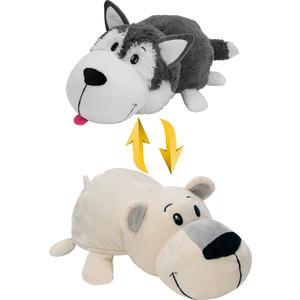 Мягкая игрушка 1Toy Вывернушка 40 см 2в1 Хаски-Полярный медведь (Т10929)