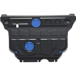 Защита картера и КПП Rival для Audi A3 (2012-н.в.) / Seat Leon (2013-2014) / Skoda Superb III (2015-н.в.) / VW Golf VII (2012-н.в.), сталь 2 мм, 111.0322.1