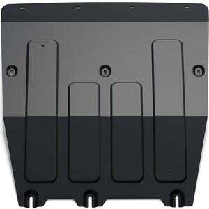 Защита картера и КПП Rival для Man TGE 3.180 МКПП FWD (2017-н.в.) / VW Crafter (2017-н.в.), сталь 2 мм, с крепежом, 111.5858.1