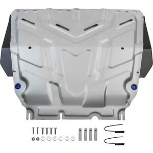 Защита картера и КПП Rival для Ford Focus (2005-н.в.), Grand C-Max (2010-2015), Kuga (2008-2013), (2003-2010), алюминий 4 мм, 333.1850.1