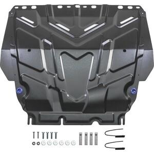 Защита картера и КПП Rival для Ford C-Max (2003-2010) / Focus (2005-2015 / 2015-н.в.) / Grand C-Max (2010-2015) / Kuga (2008-2013), сталь 2 мм, 111.1850.1