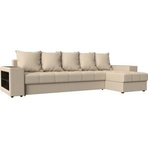 Угловой диван Мебелико Дубай эко-кожа бежевый правый угол угловой диван мебелико дубай эко кожа коричневый правый угол