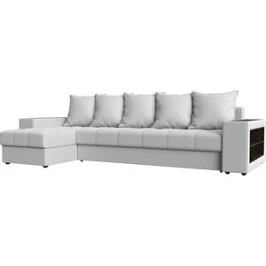 Угловой диван Мебелико Дубай эко-кожа белый левый угол угловой диван мебелико камелот эко кожа белый левый угол