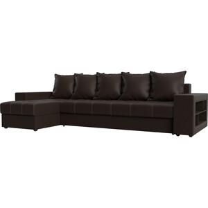 Угловой диван Мебелико Дубай эко-кожа коричневый левый угол угловой диван мебелико дубай эко кожа коричневый правый угол