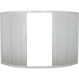 Шторка на ванну 1Marka Luxe 153 TW прозрачная, белый (4604613103620)