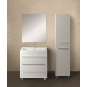 Мебель для ванной 1Marka Соната 58Н с ящиками, белый глянец
